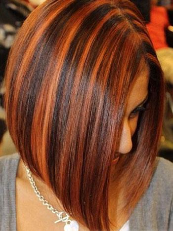 Сложное окрашивание на средние волосы