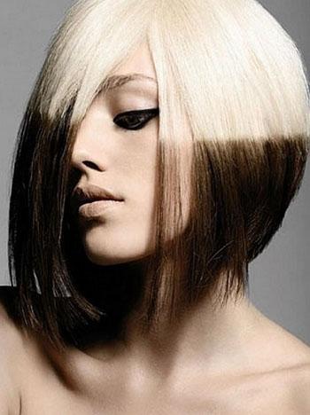 Поперечное колорирование волос