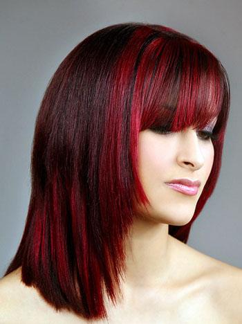 Одноцветное окрашивание волос (колорирование)