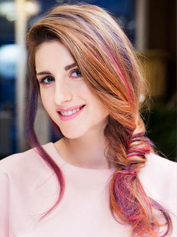 Колорирование волос с частичным окрашиванием