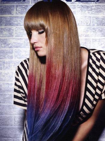 Колорирование на длинные волосы