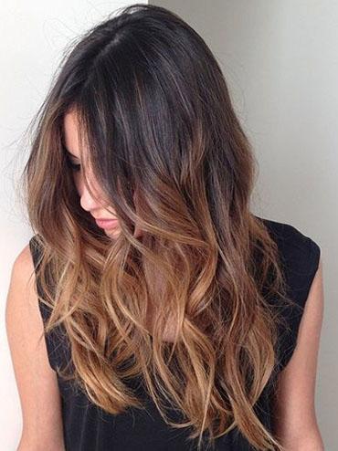Омбре фото для темных волос